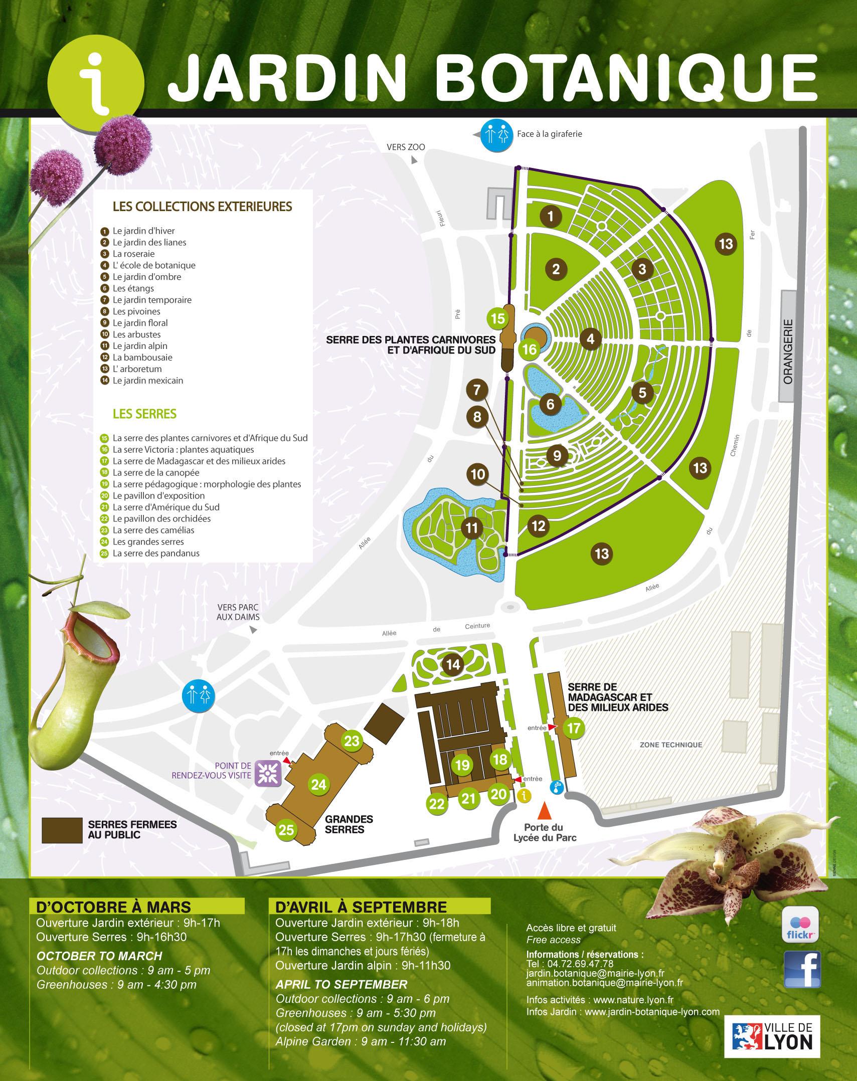 Les Collections De Plantes Jardin Botanique De Lyon