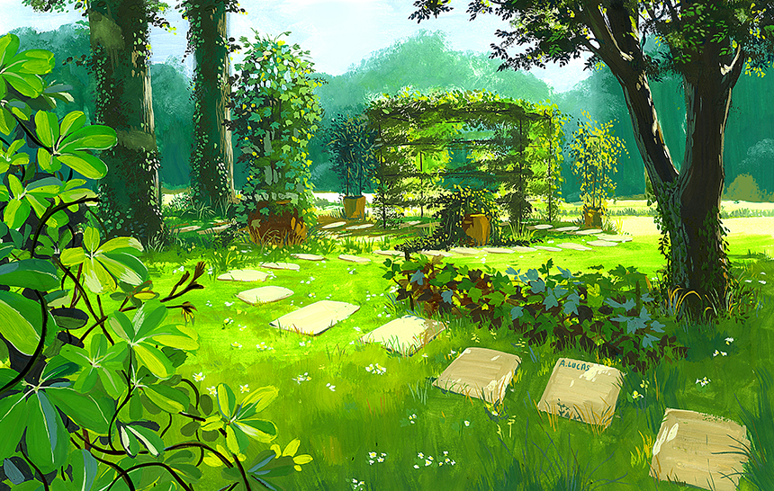 Illustration Jardin des lianes