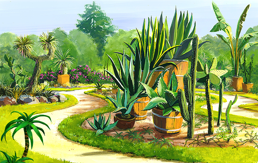 Illustration Jardin mexicain