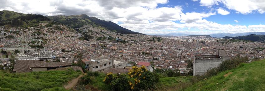 Vue panoramique de la ville de Quito